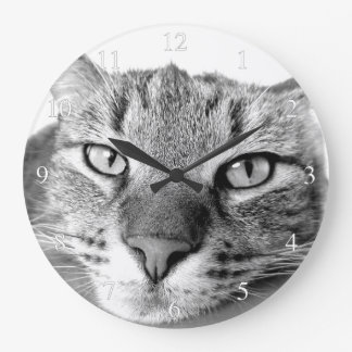 Lazy Cat Small Numbers Large Clock