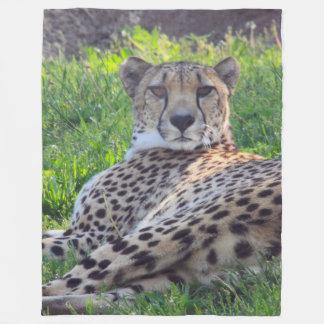 Lazy Cheetah Fleece Blanket