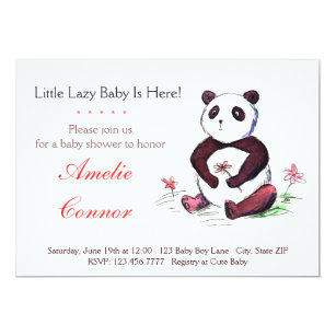 Funny baby shower invitations announcements zazzle ca lazy chinese panda funny baby shower invitation filmwisefo