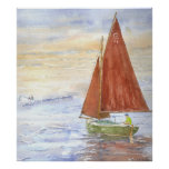 Lazy-Day Sail Poster