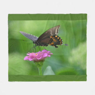Lazy Days Of Summer Butterfly Fleece Blanket