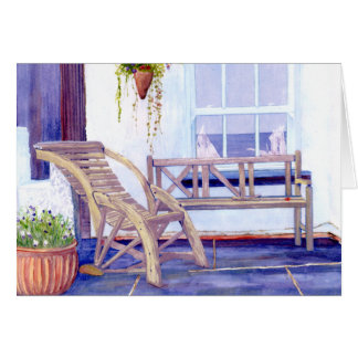 Lazy Dayz Orignal Watercolour Painting Card