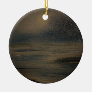 lazy evening at the beach ceramic ornament