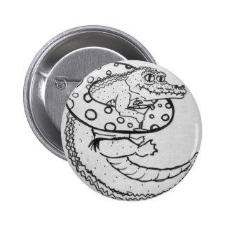 Lazy Gator black&white button