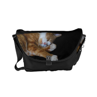 Lazy Ginger cat Courier Bag