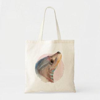 Lazy Glance   Sea Lion Watercolor Illustration Tote Bag