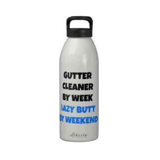Lazy Gutter Cleaner Joke Water Bottle