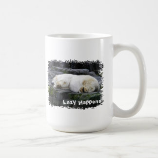 Lazy Happens Polar Bear Basic White Mug