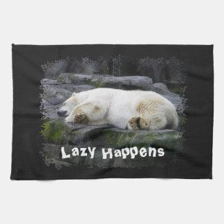 Lazy Happens Polar Bear Kitchen Towel
