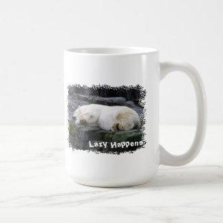 Lazy Happens Polar Bear Classic White Coffee Mug