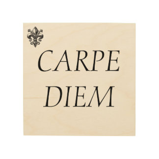 """Lazy in quote """" Carpe diem"""" Seize the day. Wood Wall Art"""