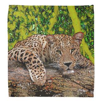 Lazy Leopard Head Kerchief