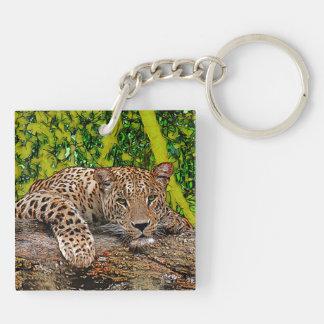 Lazy Leopard Keychain