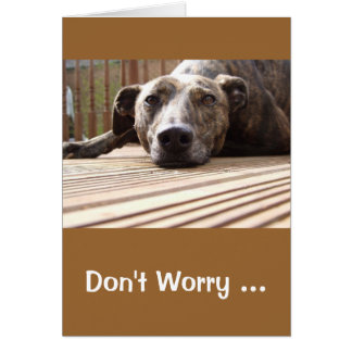 Lazy Lurcher Greetings Card