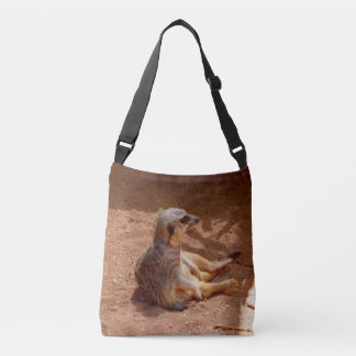 Lazy Meerkat Summer, Full Print Cross Body Bag. Crossbody Bag