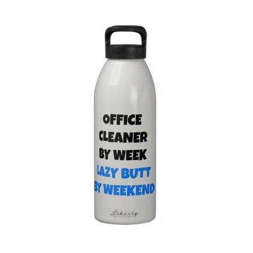 Lazy Office Cleaner Joke Reusable Water Bottle
