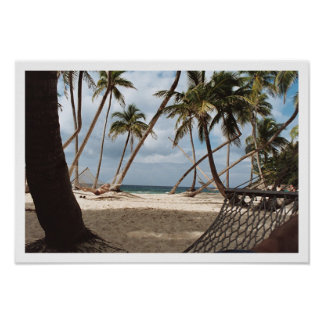 Lazy Palm Tree Days Poster