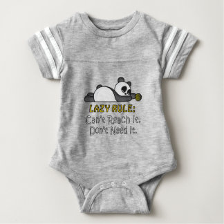 Lazy Panda Baby Bodysuit