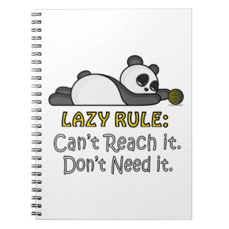Lazy Panda Note Books