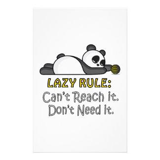 Lazy Panda Stationery