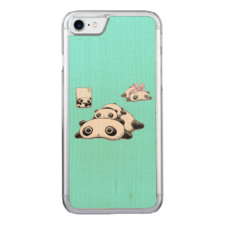 Lazy Pandas Carved iPhone 7 Case