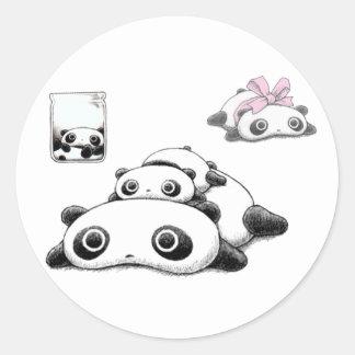 Lazy Pandas Classic Round Sticker