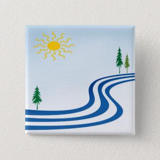 Lazy River 2 Inch Square Button