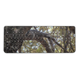 Lazy Rock Squirrel Wireless Keyboard