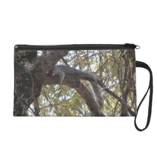 Lazy Rock Squirrel Wristlet