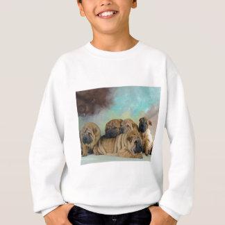 Lazy shar pei sweatshirt