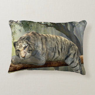 Lazy Siberian Tiger Accent Pillow
