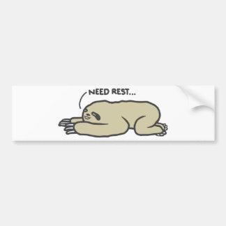 Lazy Sloth Bumper Sticker