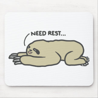 Lazy Sloth Mouse Pad