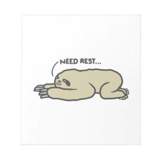 Lazy Sloth Notepad