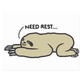 Lazy Sloth Postcard