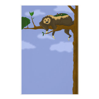 Lazy Sloth Stationery