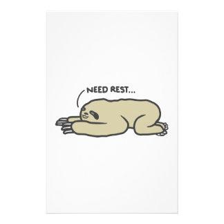 Lazy Sloth Stationery