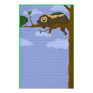 Lazy Sloth Stationery (Ruled)