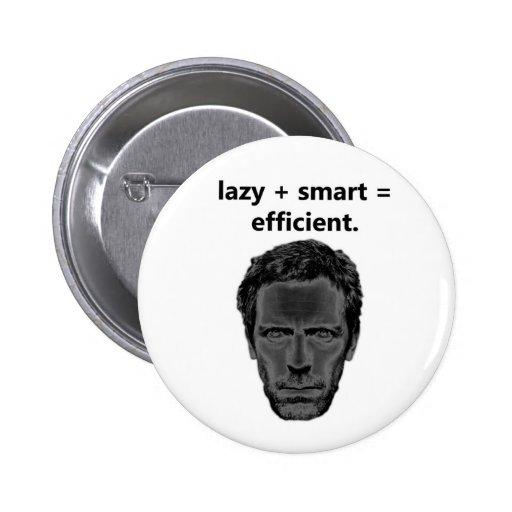 lazy + smart = efficient pinback button