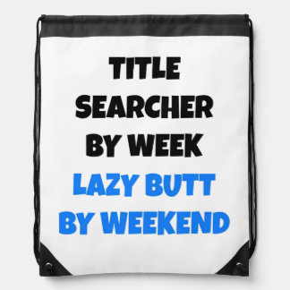 Lazy Title Searcher Joke Drawstring Bag