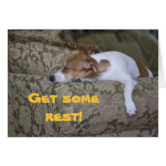LazyBones, Get some rest! Card
