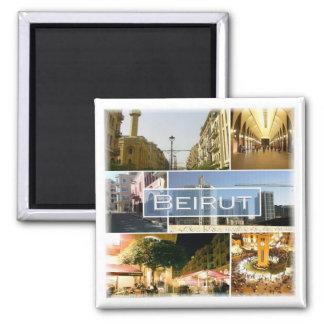 LB * Lebanon - Beirut Square Magnet