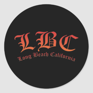 LBC - Long Beach California Classic Round Sticker