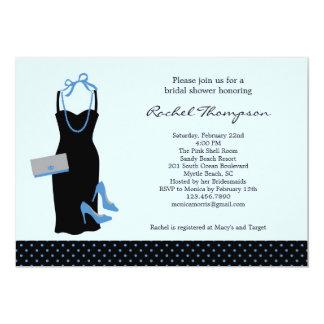 "LBD Bridal Shower Invitation 5"" X 7"" Invitation Card"