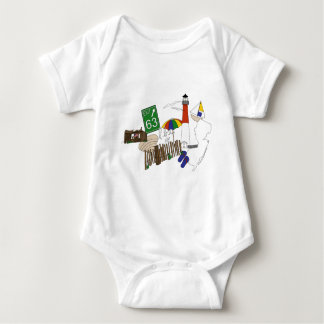 LBI Love Primary Color Collage Baby Bodysuit