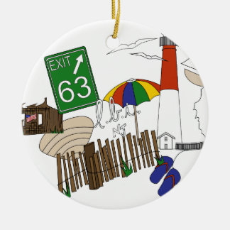 LBI Love Primary Color Collage Ceramic Ornament