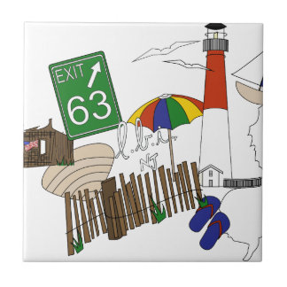 LBI Love Primary Color Collage Tile