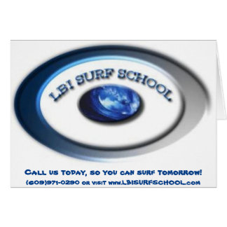LBI Surf School card