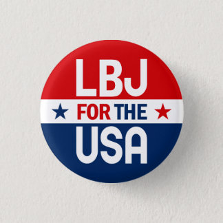 LBJ for the USA 1964 Campaign Button
