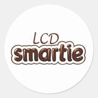 LCD Smartie Logo Round Sticker